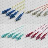 LC/Upc Om1/Om2/Om3/Om4 Sm Sx 0.9 Koord van het Flard van de Optische Vezel van de Vlecht PVC/LSZH