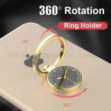 Suporte do telefone de pilha do suporte do anel da forma do relógio como o presente