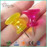 Douane 26mm de Jumbo Plastic Duidelijke Hoofd Zoete Speld van de Duw van de Kaart van de Vorm van de Fles Kleurrijke als Kopspijkers van de Duim
