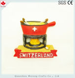 Magnete turistico su ordinazione del frigorifero dei ricordi della Svizzera dei magneti della resina dei regali