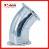 SS316L en acier inoxydable de coude de 45 degrés de serrage sanitaires Bend