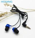 Auscultadores coloridos de Jack do plugue do estilo 3.5mm da em-Orelha do fone de ouvido da promoção