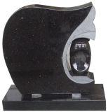 De forme spéciale pierre tombale de granit noir Galaxy avec lanterne