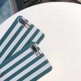 Estilo Simples Stripe PC Phone Caso Capa para iPhone