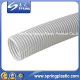 Manguito transparente de la succión del agua del polvo del PVC, flexible, fuerte, fabricante