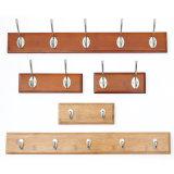 Crochet de suspension de mur de bois Décoration de ménage Handbag enduire serviette crochet en bois