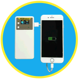 Banca mobile funzionale di potere di capacità elevata di Danpon la multi con il laser verde su golf file