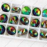 Acessórios de cristal redondos de pedra traseiros da jóia de Rivoli do ponto