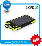 Banco solar impermeável da potência do carregador 8000mAh com portas duplas do USB