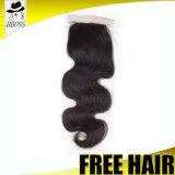 360 peluca frontal de la parte 3/4 del aire del pelo de la Virgen del encierro del cordón