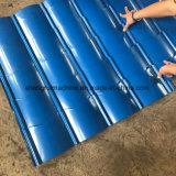 Rullo delle mattonelle lustrato tetto d'acciaio del metallo che forma macchina
