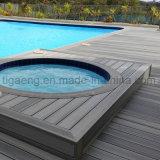 Decking résistant de la glissade WPC de surface de nature pour la piscine
