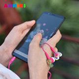 Historieta atada con alambre colorida Earbuds de las muchachas 3.5m m del auricular de Anmiki 3.5 milímetro en el receptor de cabeza estéreo del auricular del oído para el ordenador MP4 del teléfono móvil
