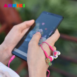 Anmiki 이동 전화 컴퓨터 MP4를 위한 귀 헤드폰 입체 음향 헤드폰에 있는 다채로운 타전된 3.5 mm 이어폰 소녀 3.5mm 만화 Earbuds