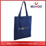 Lona da praia da compra do Tote/saco azuis simples do algodão para a promoção