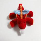 Brinquedo feito sob encomenda animal do dragão do cão do Pacifier do bebê com caixa do PVC