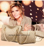 Sacchetto di spalla caldo all'ingrosso del cuoio di vendita 4 parti/borsa stabilita dei sacchetti delle signore