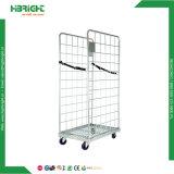 Faltbarer drei Seiten-Materialtransport-Stahlladeplatten-Rollenbehälter