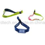 Wristband tecido da tela dos eventos do costume RFID bracelete passivo