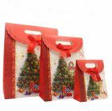 La Navidad de la alta calidad de la cartulina de la promoción de China adorna la bolsa de papel del regalo