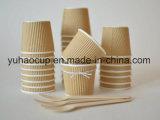 taza de papel impresa aduana del café 12oz con la tapa