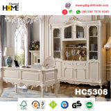 Jogo de quarto clássico europeu da madeira contínua da mobília (HC9011)