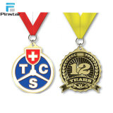 Diseño personalizado de alta calidad pura Olímpicos Medalla de Plata 925 con una cinta