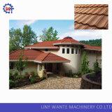 Tuile en esclavage en acier enduite par puce en pierre classique de tuiles de toit en métal