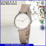 Reloj de señoras de encargo de la fabricación del reloj de la insignia (Wy-087C)