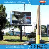 P10 tarjeta fija de la muestra de la instalación LED para la publicidad al aire libre
