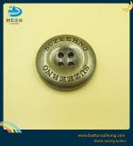 Logo personnalisé 4 trou anti métallique en laiton Boutons de couture pour les manteaux