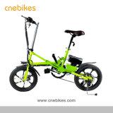 Nouveau modèle 16 pouces petit vélo électrique pliant pour adultes