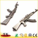 Ornamentos de Keychain del rifle de asalto de Ak-47 del metal para la decoración