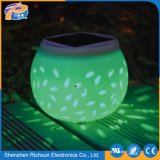 IP65 aquecem luzes solares do diodo emissor de luz do jardim das lâmpadas decorativas brancas da cerâmica