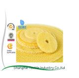 Disco calcinado forro de la solapa de la fibra de vidrio, rueda de pulido y de pulido abrasiva 8*8