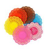 Couvre-tapis/caboteur respectueux de l'environnement de cuvette de silicium de couleur de sucrerie