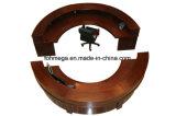 Demi-cercle comptoir de réception en bois pour l'hôtel