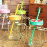 Cristal personalizado Mason Jar para la miel envasado, jarra de cristal para beber