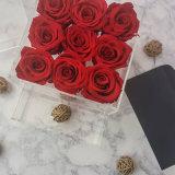 장미를 위한 아크릴 보존한 신선한 꽃 상자