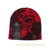 100%のアクリルの印刷された冬の帽子によって編まれる帽子