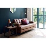Il sofà di cuoio reale dell'unità di elaborazione di alta qualità ha impostato per la vendita (ST0029)