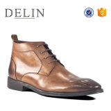 Delin горячая продажа натуральной кожи коровы обувь мужчин теплой обуви