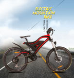 500W de volledige Elektrische Fiets van de Fiets van de Berg van het Frame van de Koolstof van de Opschorting