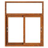 Finestra di vetro del grano di legno di alluminio da vendere