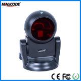 최신 판매 1d 탁상용 Omni 360degree 전방향성 Barcode 스캐너, 검사 플래트홈, Mj9120--Wh