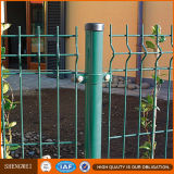 Cerca revestida del acoplamiento de alambre del PVC del color verde