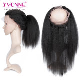 赤ん坊の毛とまっすぐにねじれた360のレースの正面閉鎖が付いている高いQualiyの人間の毛髪の束