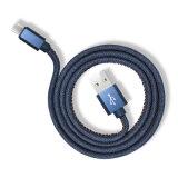 1m Ковбой Жан микроволновую печь зарядный кабель USB для ОС Android Тип C iPhone 8