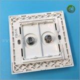 Weiße Fernsehapparat-Breitbandkontaktbuchse-Wand-Kontaktbuchse-Plastikkontaktbuchse-Quadrat-Kontaktbuchse-bester Verkauf