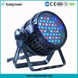 54pcs 3W RGBW Epistar LED Iluminación de escenarios al aire libre para DJ